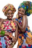 pic of zulu  - Two young beautiful African fashion models - JPG