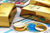 picture of golden coin  - Business banking and financial success concept - JPG