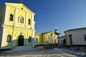 stock photo of sm  - Samara Desert Nicholas monastery - the main shrine of Cossacks. The first church with a hospital and a school was built on the island between the Zaporozhian p. Samara and her bend Samarchikom back in 1576 from 1602 ** Note: Slight blurriness, best at sm - JPG