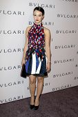 LOS ANGELES - FEB 19:  Marta Gastini arrives at the BVLGARI Celebrates Elizabeth Taylor's Jewelry Co