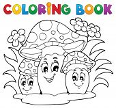 pic of face-fungus  - Coloring book mushroom theme 2  - JPG