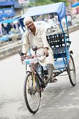 stock photo of rickshaw  - Indian auto rickshaw three - JPG
