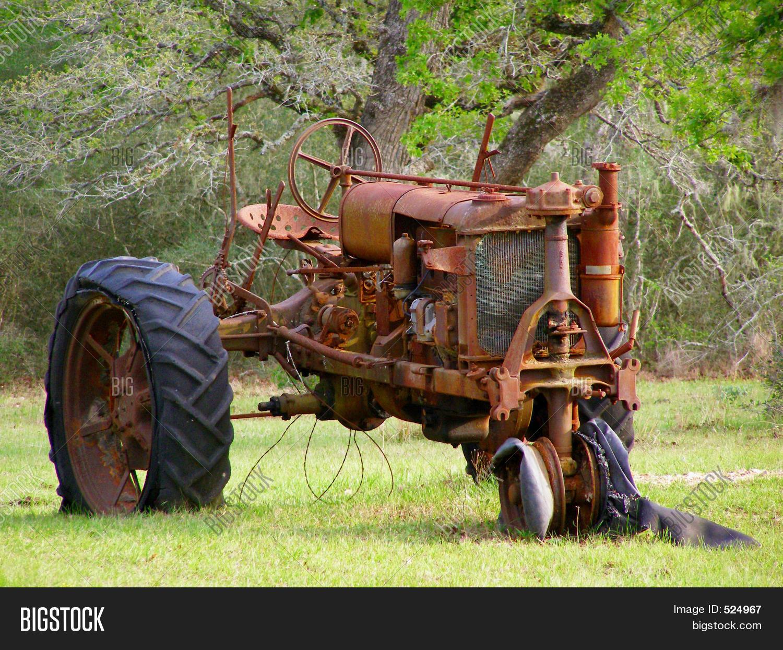 Tractor Broke Down : Old broken down tractor image photo bigstock
