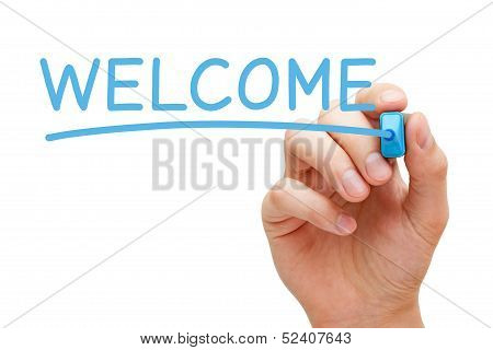 Welcome Blue Marker