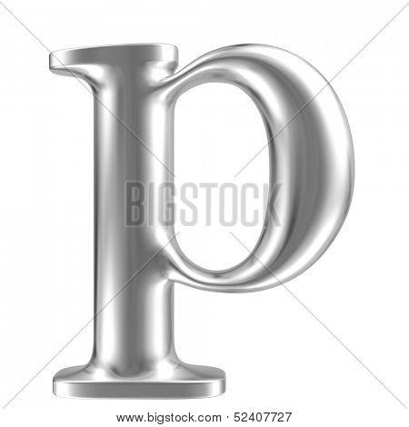 Aluminium font lorewcase letter p