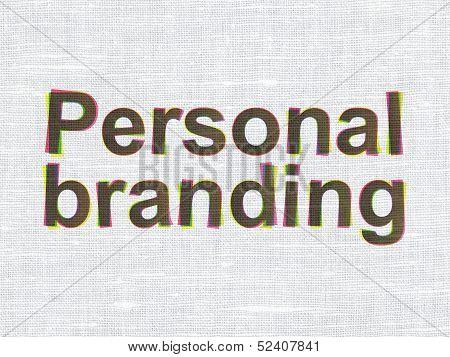 Marketing concept: Personal Branding on fabric texture backgroun