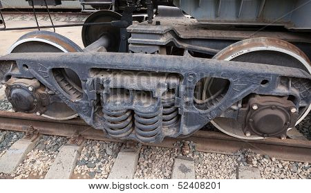 Wheels And Suspension Of Old Wagon