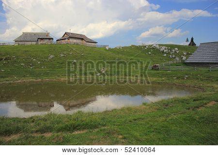 Alpine Puddle In The Rain, Slovenija