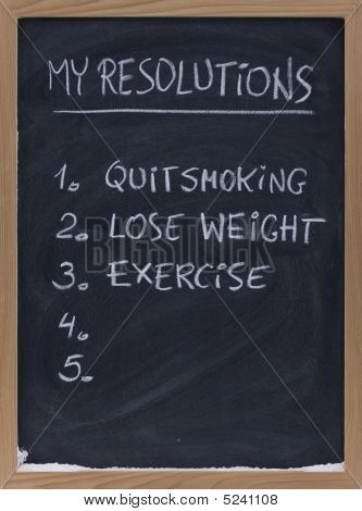 Quit Smoking, Exercise, Loose Weight