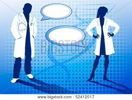 Silhouettes of doctors