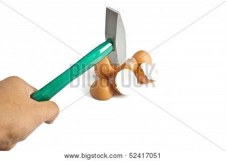Hammer Cracking Egg