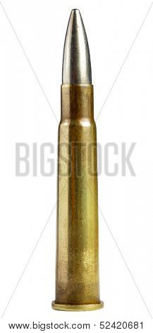 old bullet isolated on white