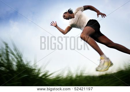 Running across Field