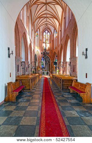 The Interior Old Church In Swidwin