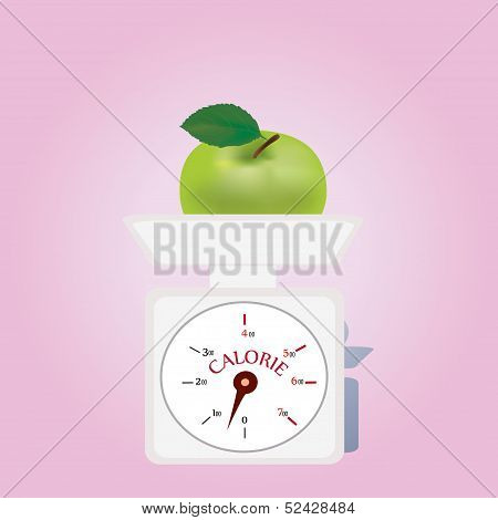 Vector of a Weighing Machine with Low Calories
