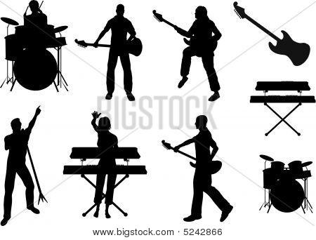 Musiker Silhouetten