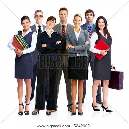 Business people group. Isilated over white backgorund.