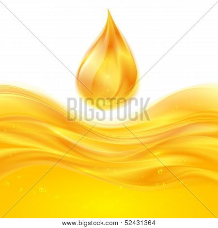 Yellow liquid oil vector background