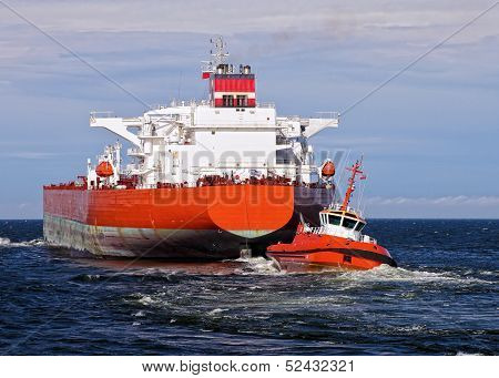 Tugboat Towing Tanker