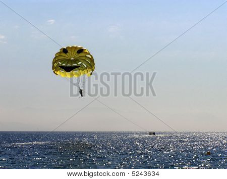 Parachute Over Sea