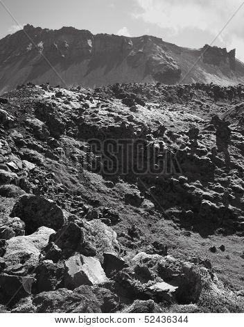 Iceland. Snaefellnes Peninsula. Volcanic Mountains.