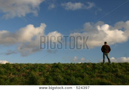Man On Dyke