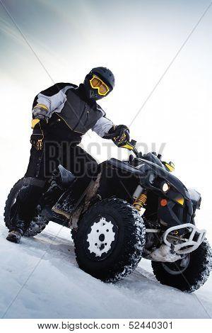 Rider costs near to ATV. Winter season