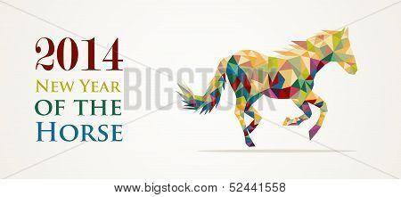 Año nuevo chino del caballo Ilustración vectorial archivo.