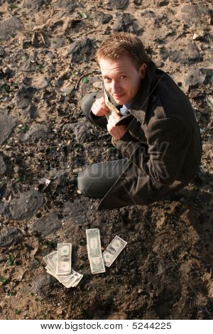 Man With Money Outdoor