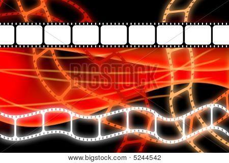 Old Movie Film Reel Strip