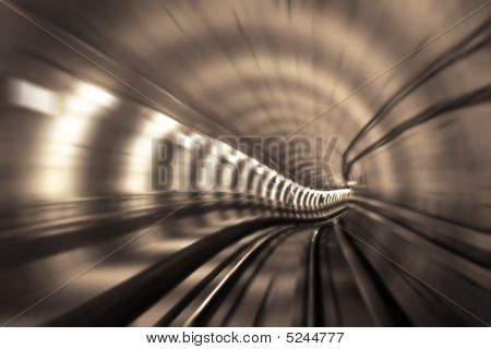 Metro Tunnel, Blurred Motion