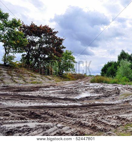 Offroad, natural dirt terrain