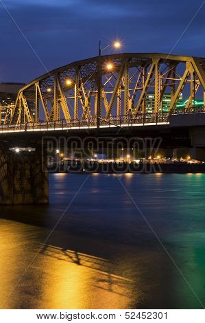Portland Bridge At Night