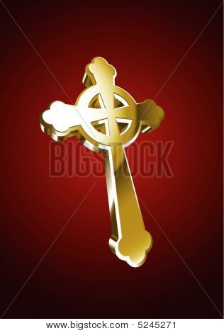 Vector illustration of Celtic cross