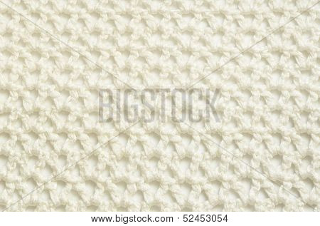 White Crochet Fabric