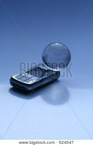 Globe On Phone