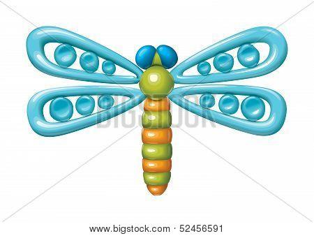 Plasticine dragonfly