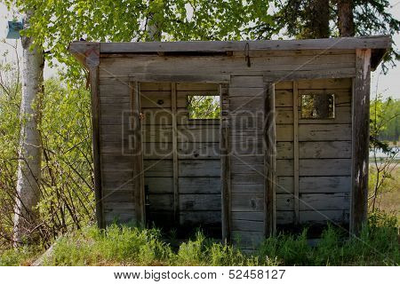 Double-wide Alaskan Outhouse