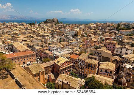 View Of The Corfu Town. Kerkyra, Photo Taken In Greece
