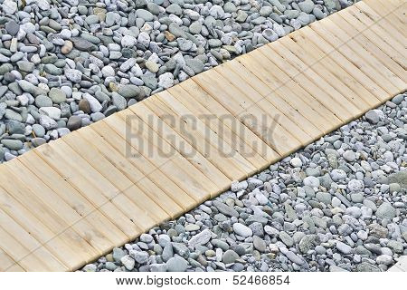 Wooden Walkway On The Beach