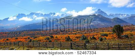 Panoramic view of scenic Dallas divide landscape in Colorado