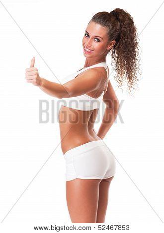 Fitness Brunette.