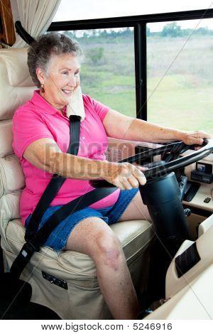 Senior Woman Behind The Wheel