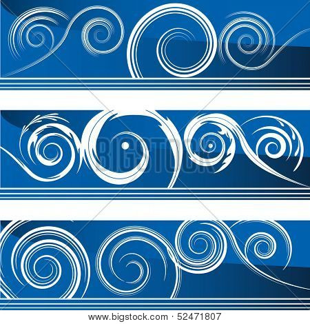 An image of a set of flourish swirl banners.