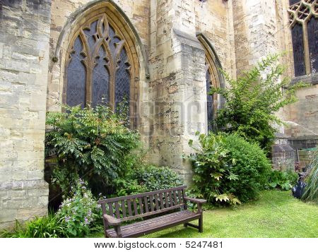 Secluded Bench Church Gardens Image Photo Bigstock