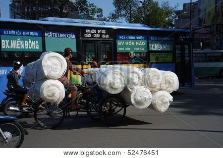 Overloaded Transport By Pedicab