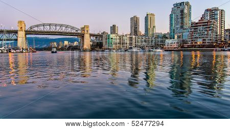 Burrard Street Bridge From Granville Island