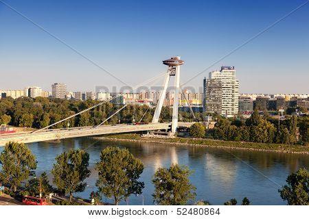 New Bridge on July 21 2013 in Bratislava Slovakia