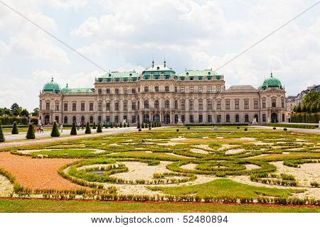 Tourists in the Belvedere Vienna