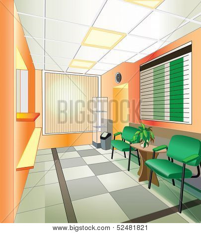 interior of hospital (vector illustration)